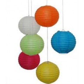 Cool Paper Lanterns (Pack Of 6)