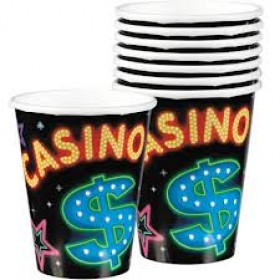 Casino Party Paper Cups (Pack Of 8)