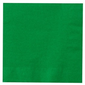 Solid Green Paper Napkins (Pack Of 20)