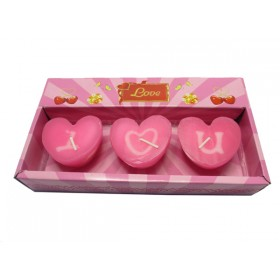 Heart Shape I ♡ U Candle (Pink)