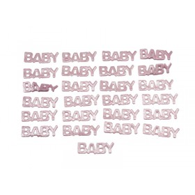 "Baby Letter Satin Favors (Pink) - 1"" (Pack Of 25)"
