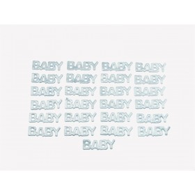 "Baby Letter Satin Favors (Blue) - 1"" (Pack Of 25)"