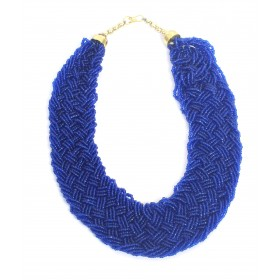 Blue Coloured Beaded Necklace