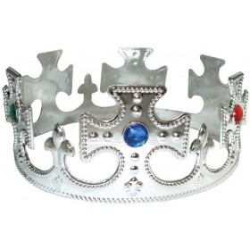 Kings Plastic Crowns (Silver)
