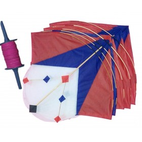 Laggu Kites with Manja (Set of 5)