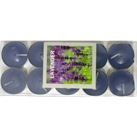 Lavender Scented Candle With Metal Base (Purple) - Pack of 10