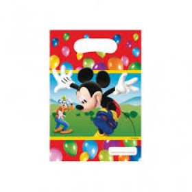 Mickey Mouse Party Loot Bags - Pack of 6