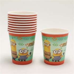 Minions Theme Paper Cups - Pack of 10