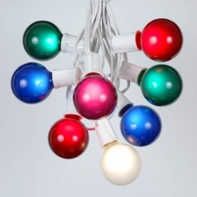 Multicolored LED Fiber Optic Globe Light String Set