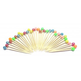 Multicolored Beads Toothpicks (Pack Of 100)