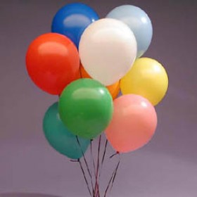 Assorted Solid Colour Metallic Latex Balloons ( Pack of 50 ) - 12""