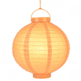 "Orange Battery Operated Lantern - 8"" (Pack Of 3)"