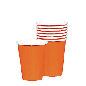 Orange Paper Cups (Pack Of 10)