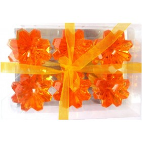 Orange Diamond Shaped Floating Candles (Pack of 6)