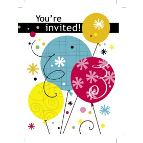"""You're Invited"" Invitation Cards With Envelopes (Pack Of 8 )"
