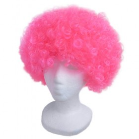 Pink Frizzy Afro Wig