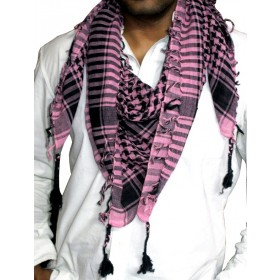 Pink And Black Arafat Scarf