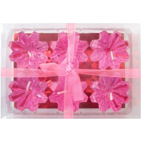 Pink Diamond Shaped Floating Candles (Pack of 6)