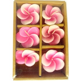 Pink Flower Floating Candles (Pack of 6)