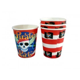 Pirate Party Paper Cups-Pack of 10