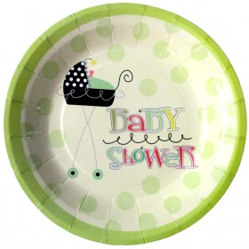 Stroller Fun Baby Shower Paper Plates (Pack Of 10)