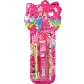 Princess Pen & Pencil Stationery Set (6 in 1)