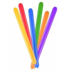 Assorted Color Pipe/ Tube Balloons - (Pack Of 100)