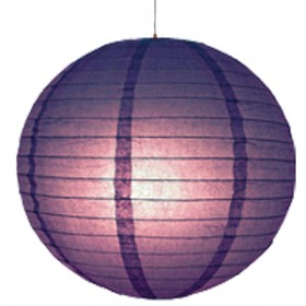 16 inch Even Round Paper Lantern (Purple) - 1 Piece