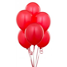 """Red Latex Balloons (Pack Of 10) - 12"""""""