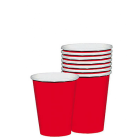Red Paper Cups (Pack Of 15)