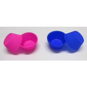 Round Shaped Silicon Baking Cups (Pack Of 6)