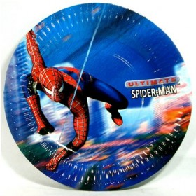 Spiderman Dessert Plates - Pack of 8