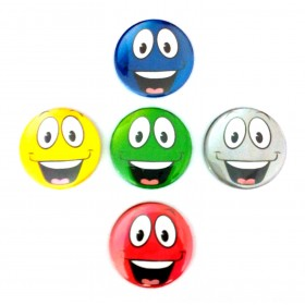 Smiley Face Pin Badges (Pack of 5)