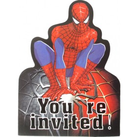 Spiderman Party Invitation Cards With Envelopes (Pack Of 10)