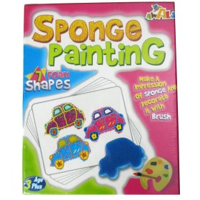 Sponge Painting Game (7 Foam Shapes)