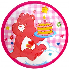 Happy Birthday Teddy Bear Plates - Pink (Pack of 10)
