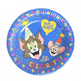 "Tom and Jerry Plates - 7"" (Pack Of 10)"
