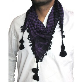 Triangular Purple Arafat Scarf