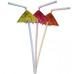 Cocktail Umbrella Straws ( Pack Of 25)
