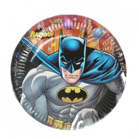 Batman Party Plates (Pack Of 10)