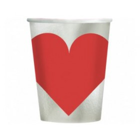 Key To Your Heart Valentines Day Party Metallic Cups (Pack Of 8)