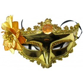 Venetian Crown Party Mask (Golden)