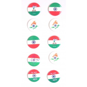I Love My India Pin Badges ( Pack of 10)