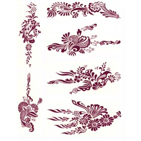 Water Transfer Temporary Tattoos (6 in 1) - 2