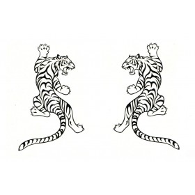 Water Transfer Tiger Temporary Tattoos Set