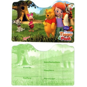 "Winnie ""My Friend Tigger & Pooh"" Invitation Cards - Pack of 8"