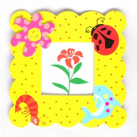 Flowers & Bugs Kids Photo Frame
