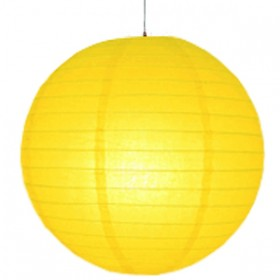 8 inch Even Round Paper Lantern (Yellow) - (Pack Of 3)