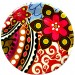 """Flower Theme Party Paper Plates - 7"""" (Pack of 10)"""
