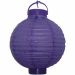 "Purple Battery Operated Lantern - 8"" (Pack Of 3)"